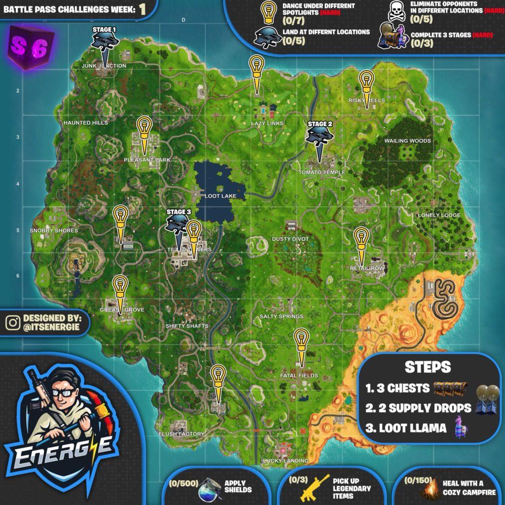 Fortnite Cheat Map Season 6 Week 1