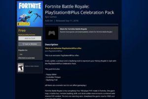 Fortnite PlayStation Pack Celebration Pack