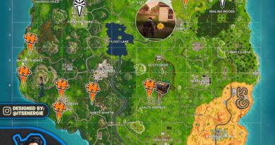 Season 5 Week 10 Challenges Cheat Sheet Map Fortnite