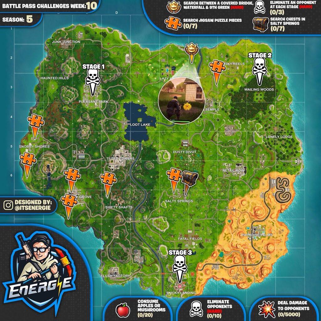 2 Fortnite Season 5 Week 10 Challenge Cheat Sheet Maps Fortnite
