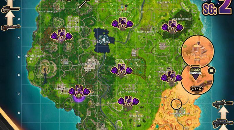Fortnite Season 6, Week 1 – Cheat Sheet Map