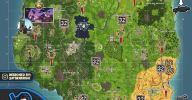Fortnite Season 6 Week 10 Cheat Sheet Map Challenges Fortnite