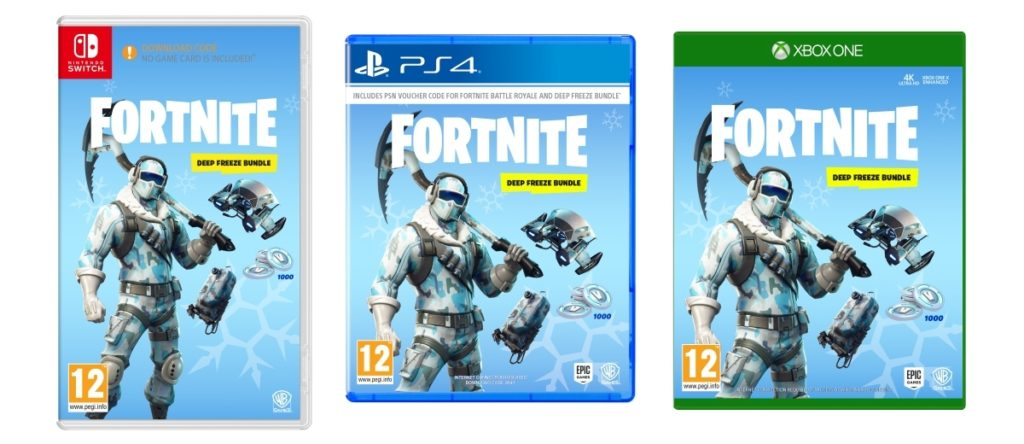 Fortnite Deep Freeze Bundle Physical