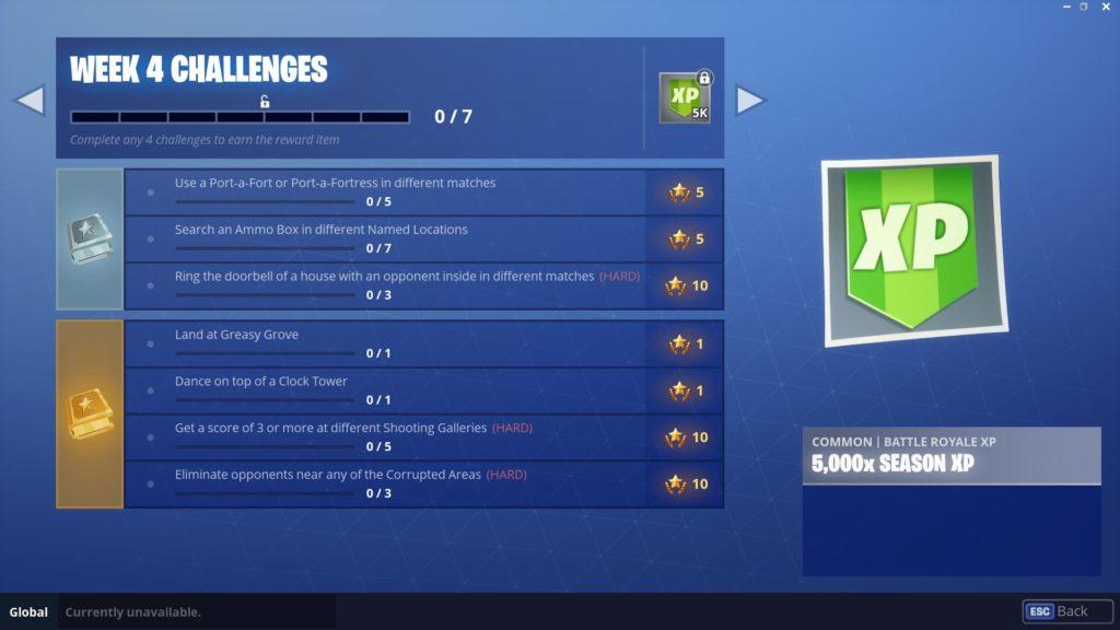 Fortnite Season 6, Week 4 Challenges