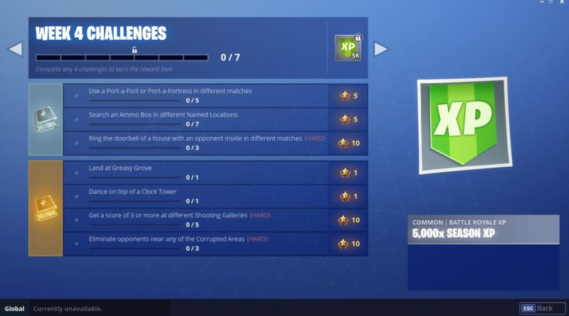 Fortnite Season 6, Week 4 Challenges