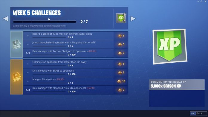 Fortnite Season 6, Week 5 Challenges