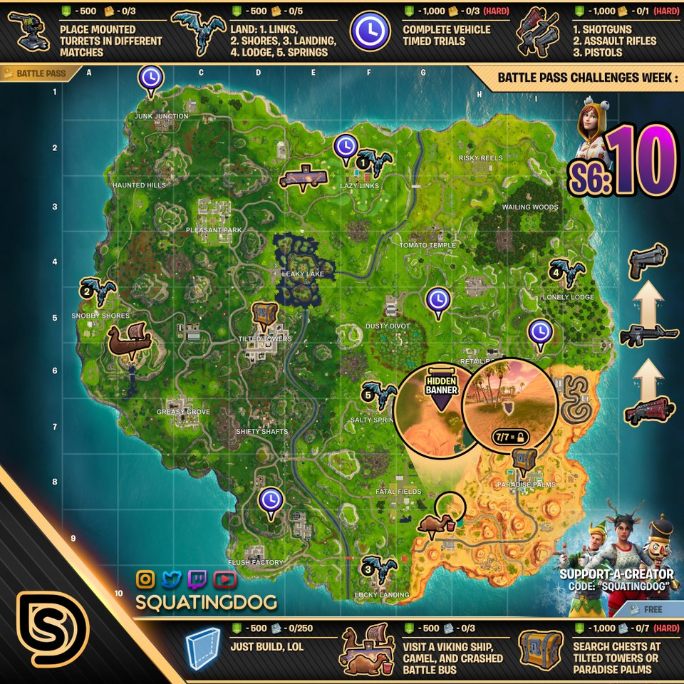 Fortnite Cheat Map Season 6 Week 10