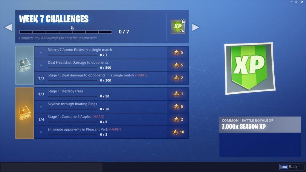 Fortnite Season 6 Week 7 Challenges