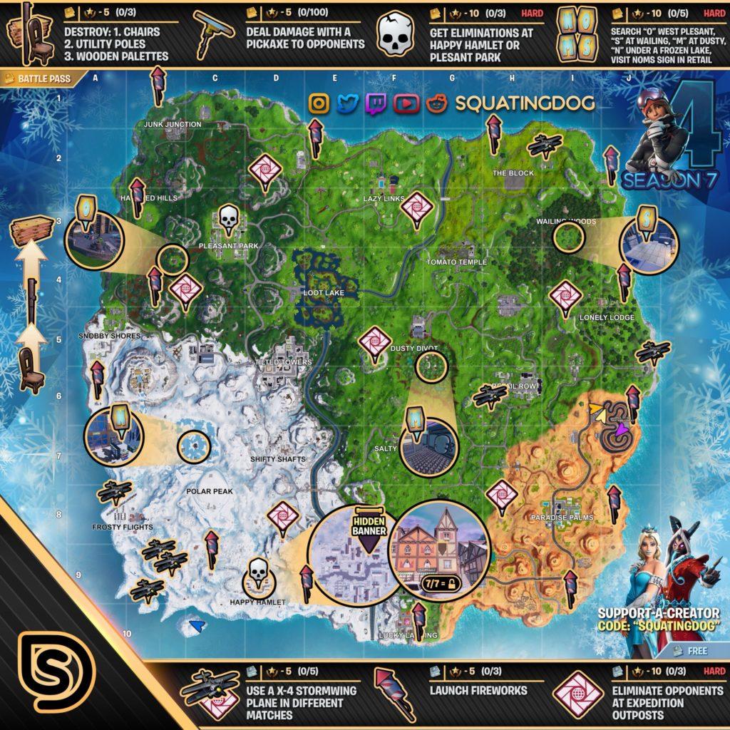 fortnite cheat map season 7 week 4 - season 2 fortnite map
