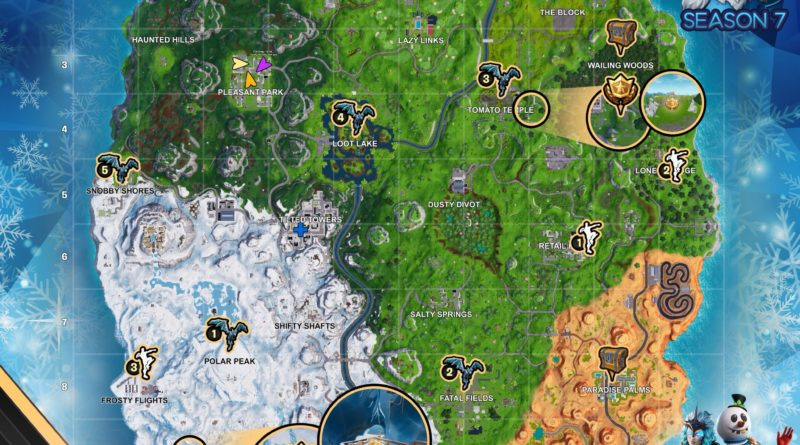 Fortnite Cheat Map Season 7 Week 5
